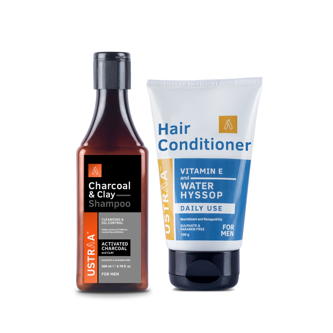 Clay & Charcoal Shampoo & Daily Use Hair Conditioner