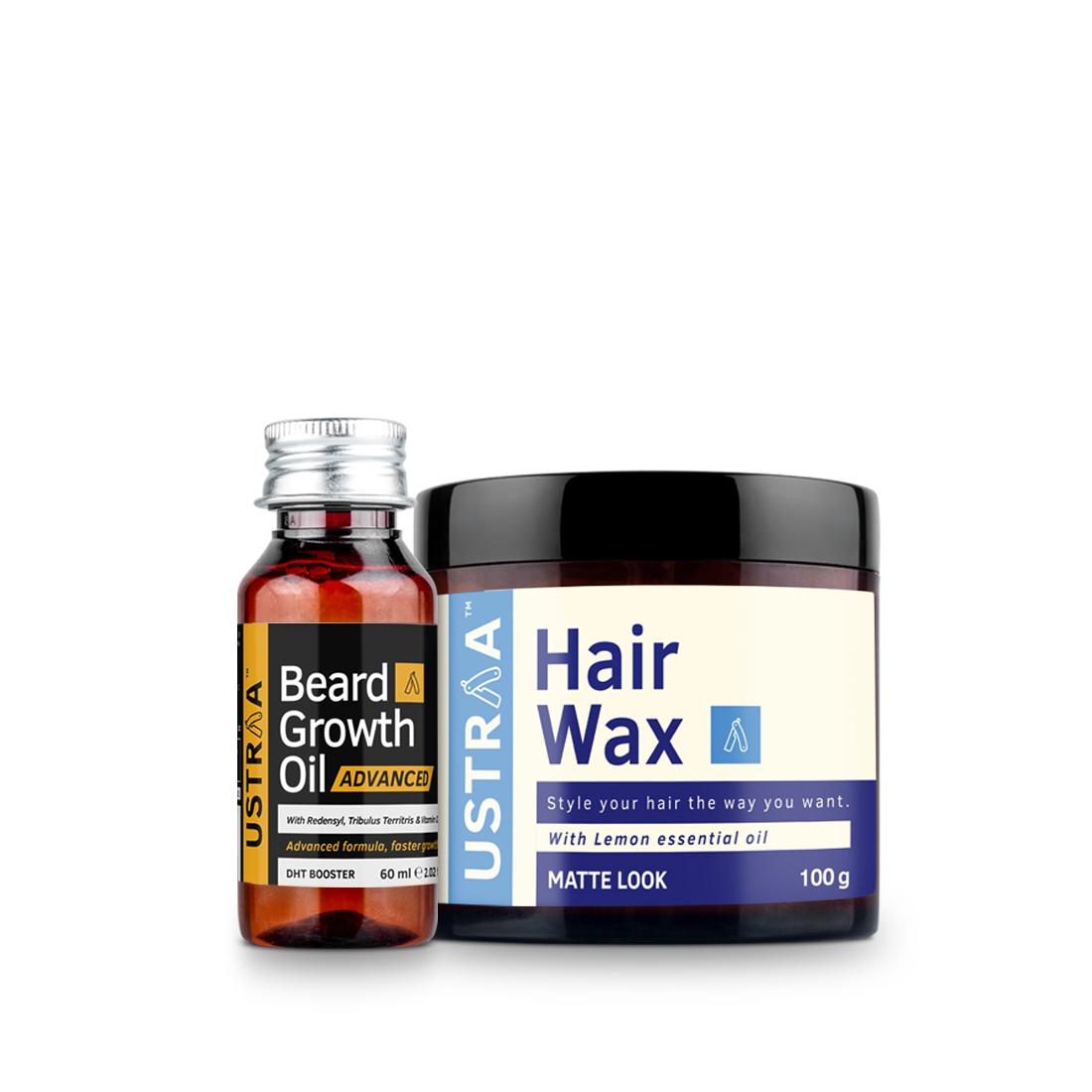 Beard Growth Oil- Advanced & Hair Wax- Matte Look