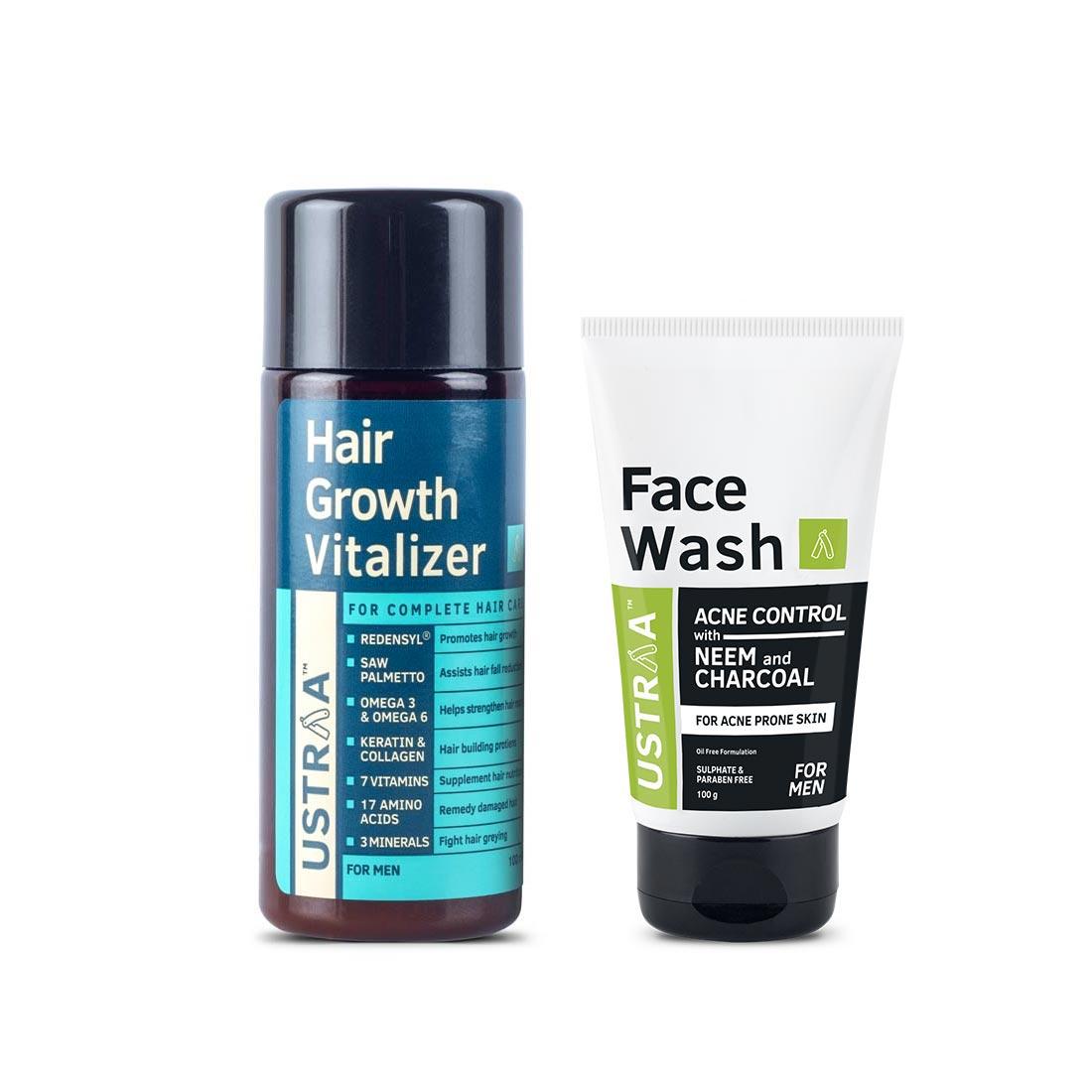 Hair Growth Vitalizer & Neem & Charcoal Facewash