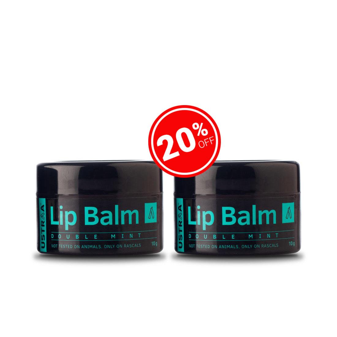 Ustraa Lip Balm (Double Mint) - Set of 2 (10g)