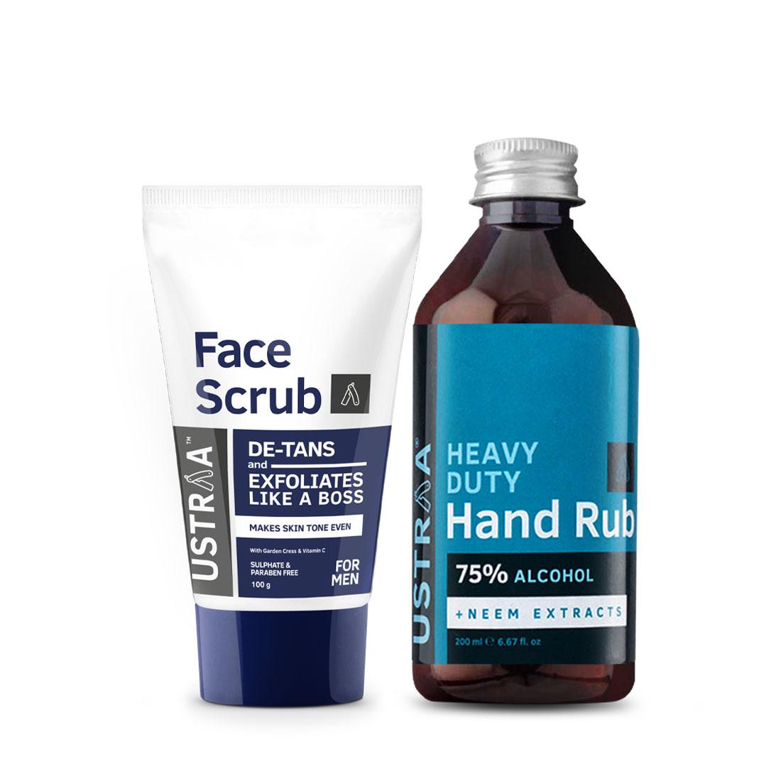 Face Scrub De-tan and Hand Rub - 200 ml
