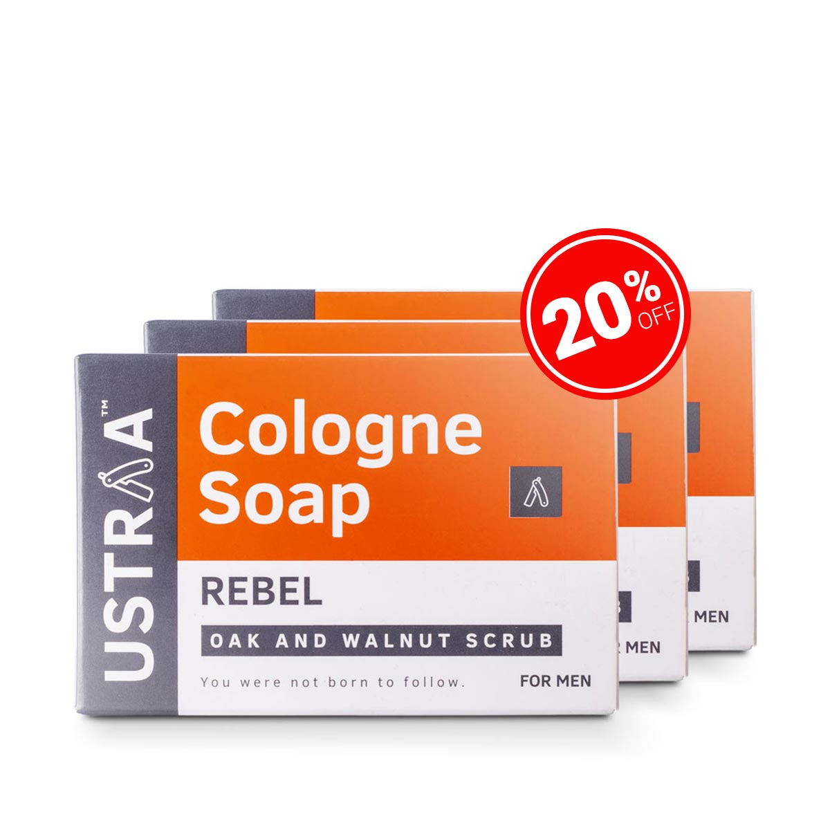 Rebel Cologne Soap - Pack of 3