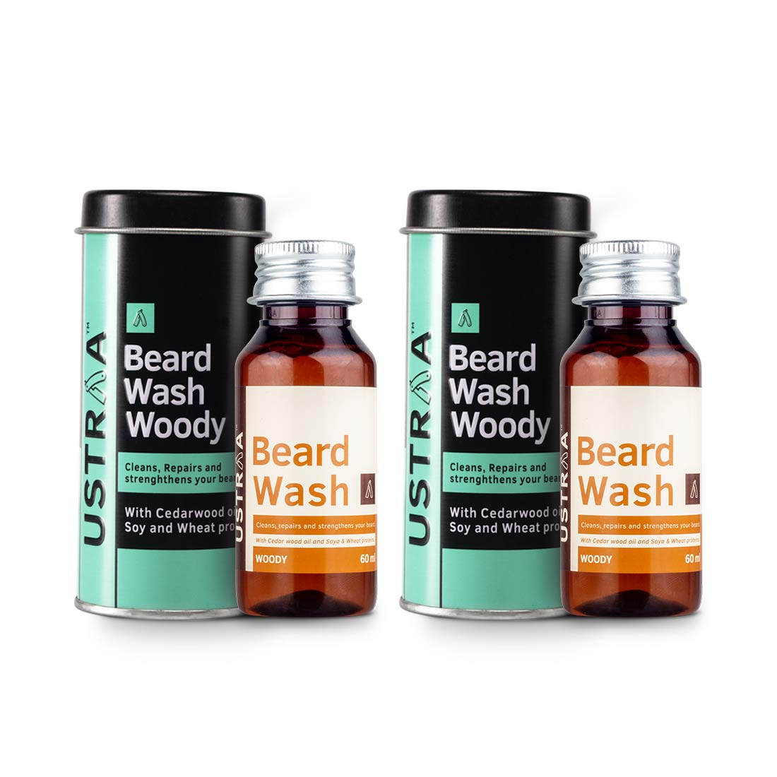 Beard Wash (Woody) - Set of 2