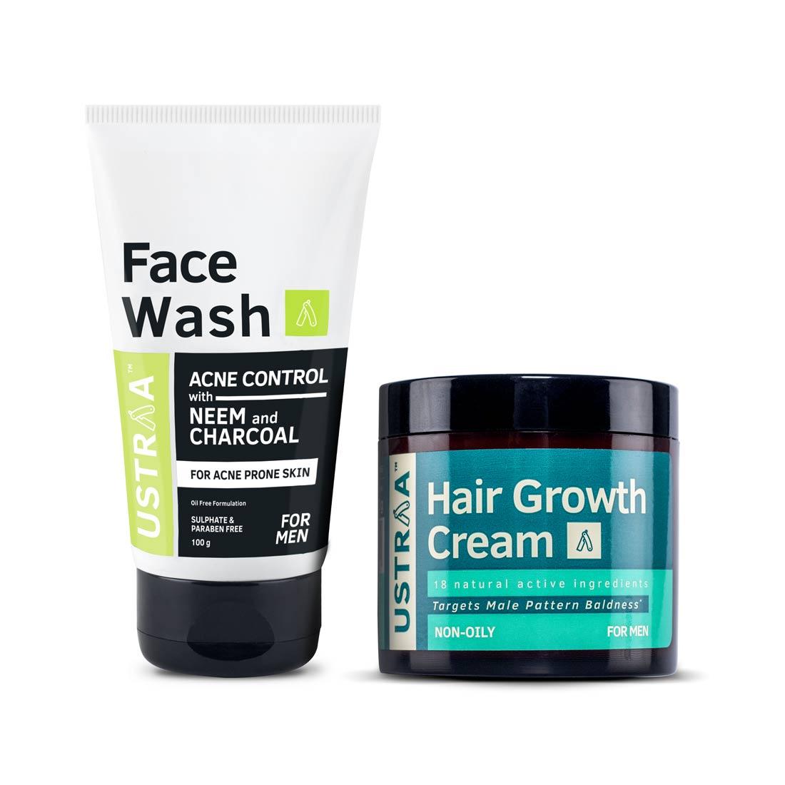 Hair Growth Cream & Acne Control Face wash