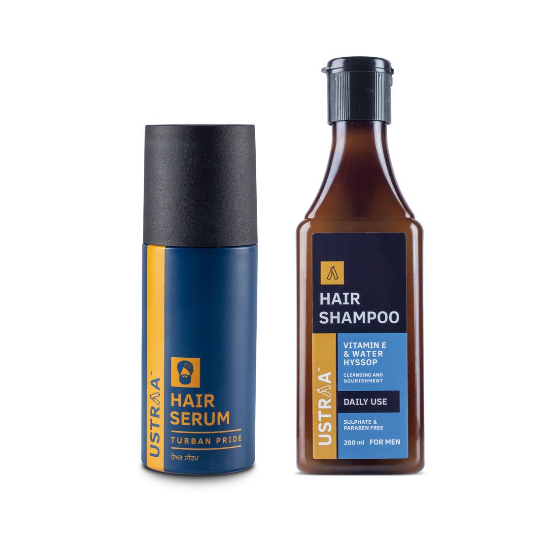Daily Use Shampoo & Turban Pride Hair Serum