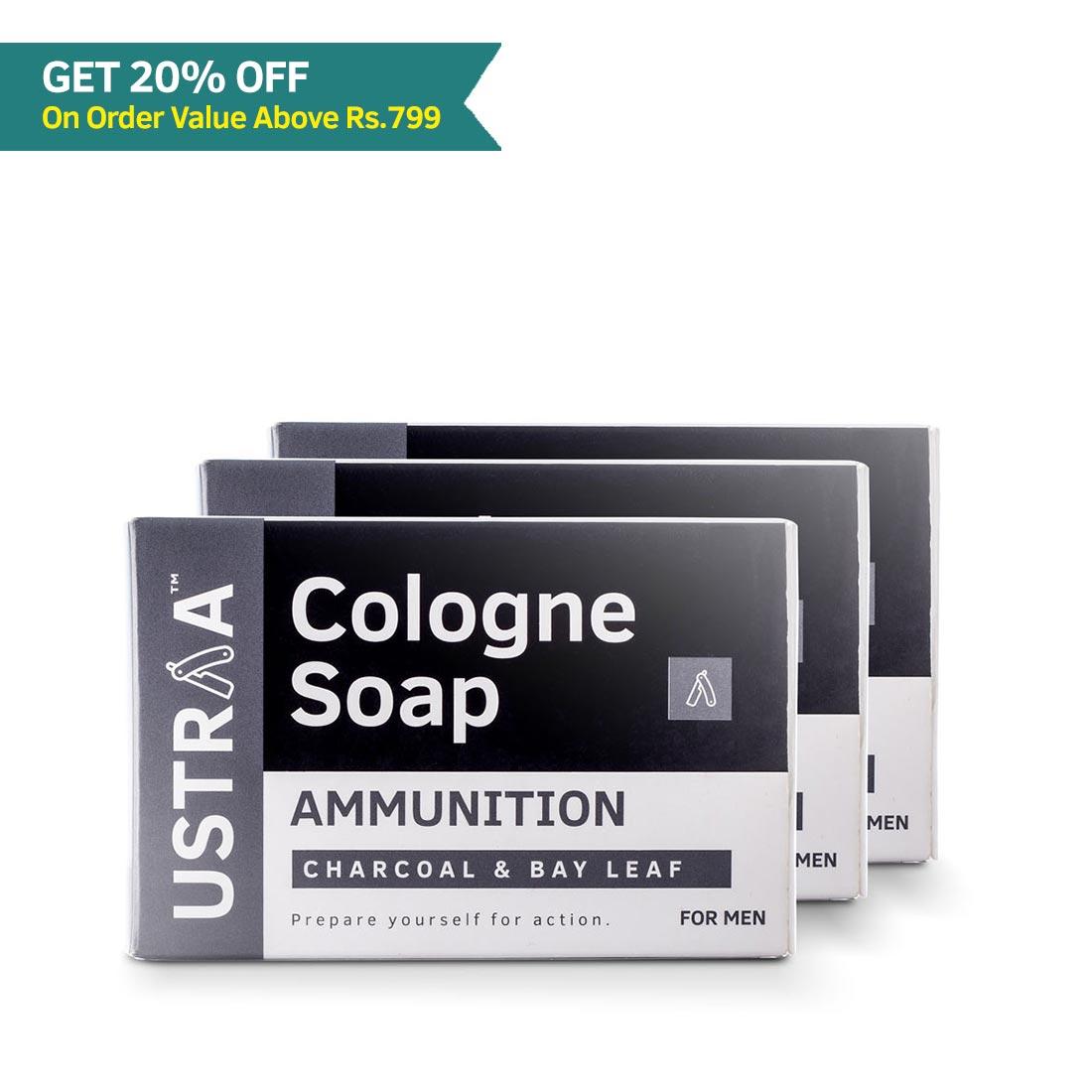 Ammunition Cologne Soap - Pack of 3