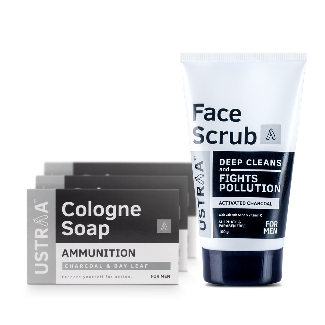 Activated Charcoal Face Scrub & Cologne Saop Ammunition