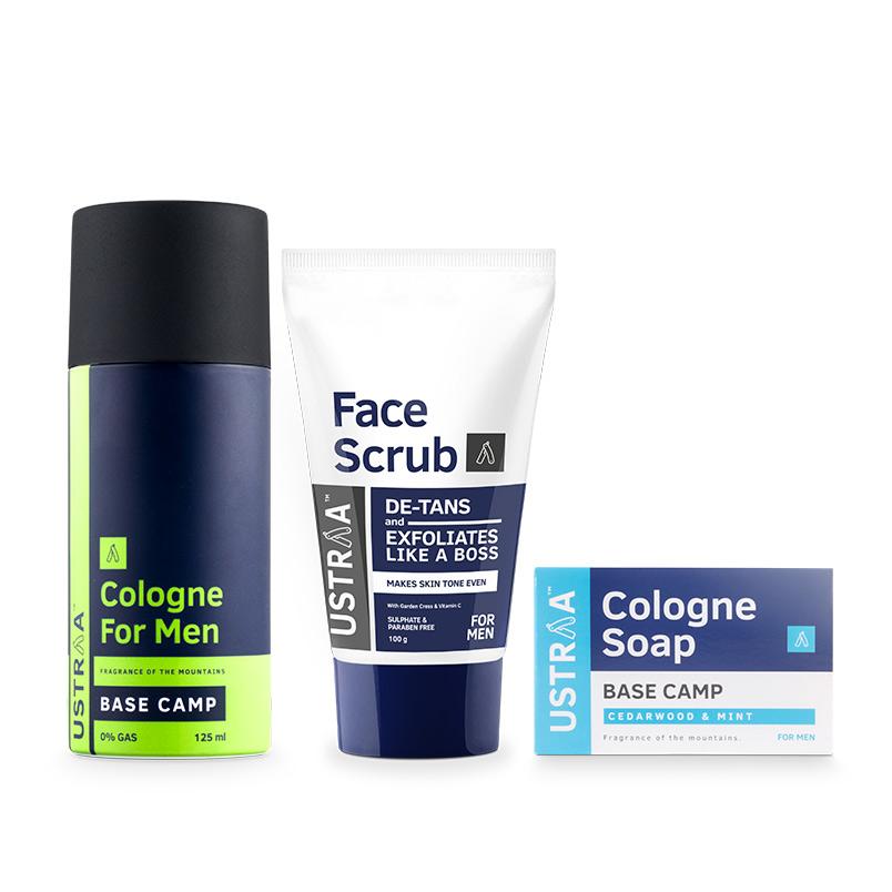 Cologne Spray - Base Camp, Face Scrub & Cologne Soap - Base Camp