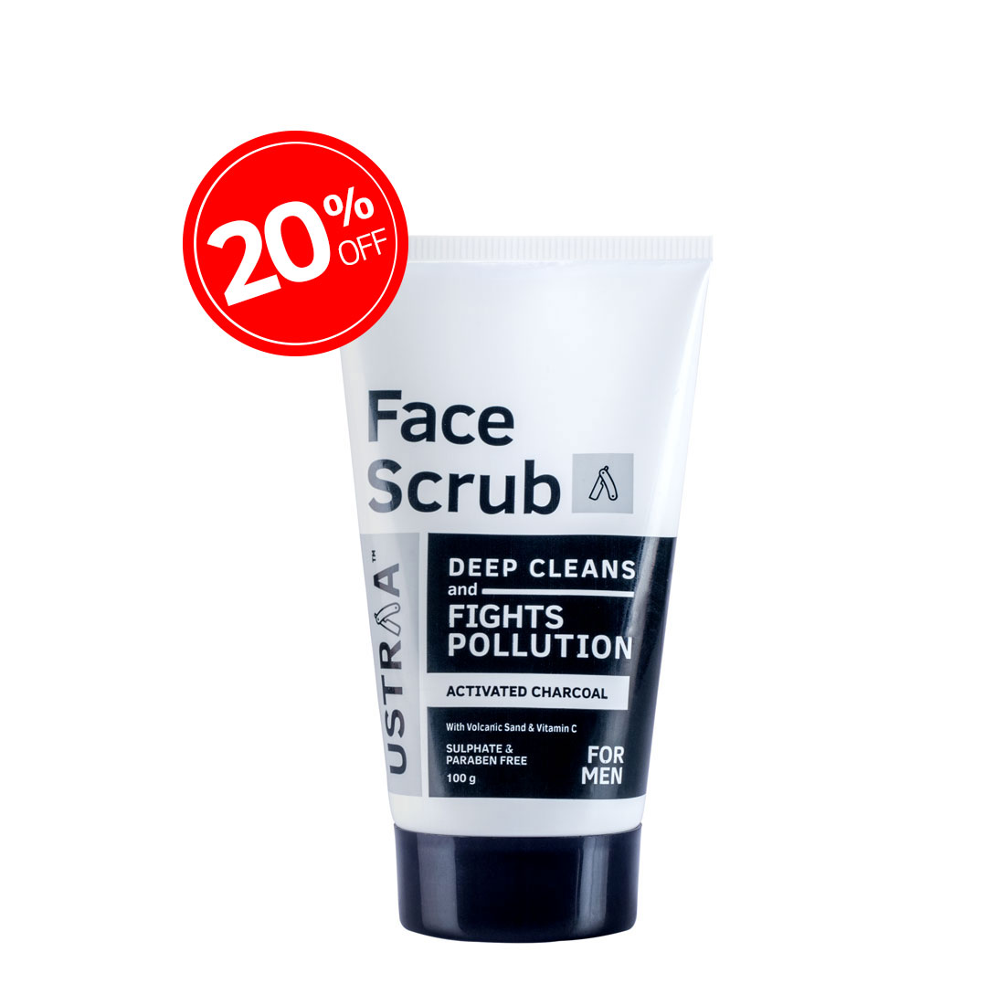 Activated Charcoal Face Scrub - 100g