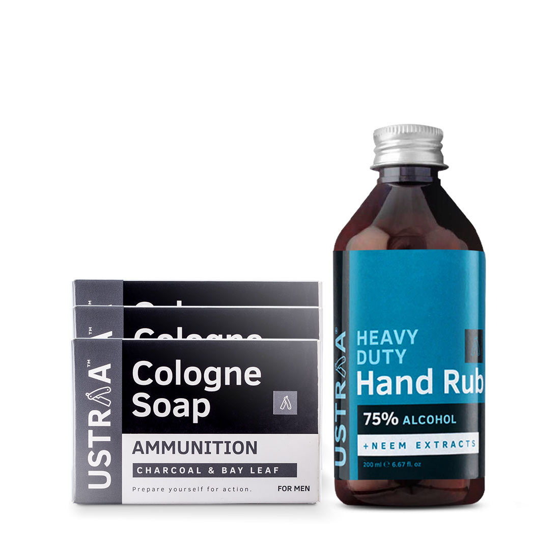 Cologne Soap - Ammunition - Set of 3 and Hand Rub - 200 ml