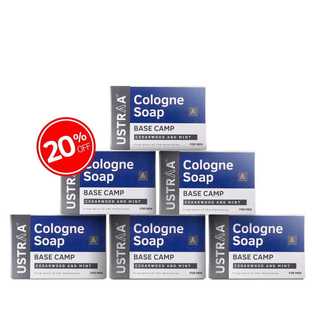 Base Camp Cologne Soap - Pack of 6