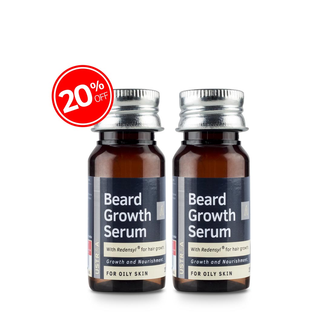 Beard Growth Serum (For Oily Skin) - Set of 2
