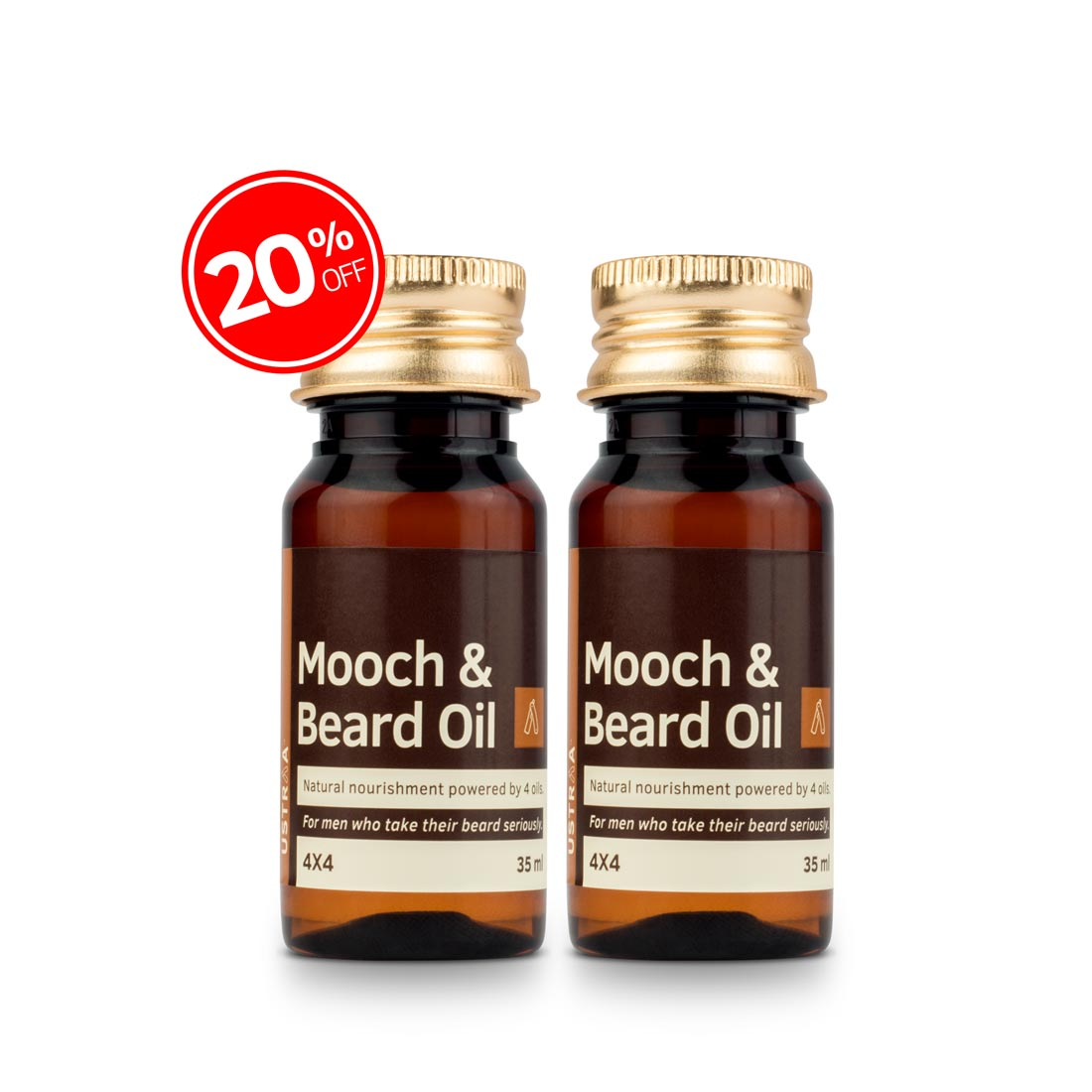 Beard & Mooch Oil 4x4 - Set of 2
