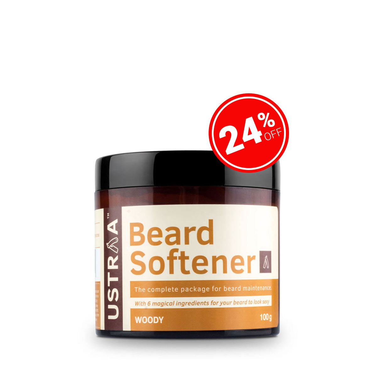 Beard Softener Woody - 100g
