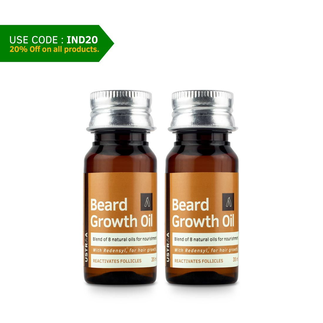 Beard Growth Oil - 35 ml - Set of 2