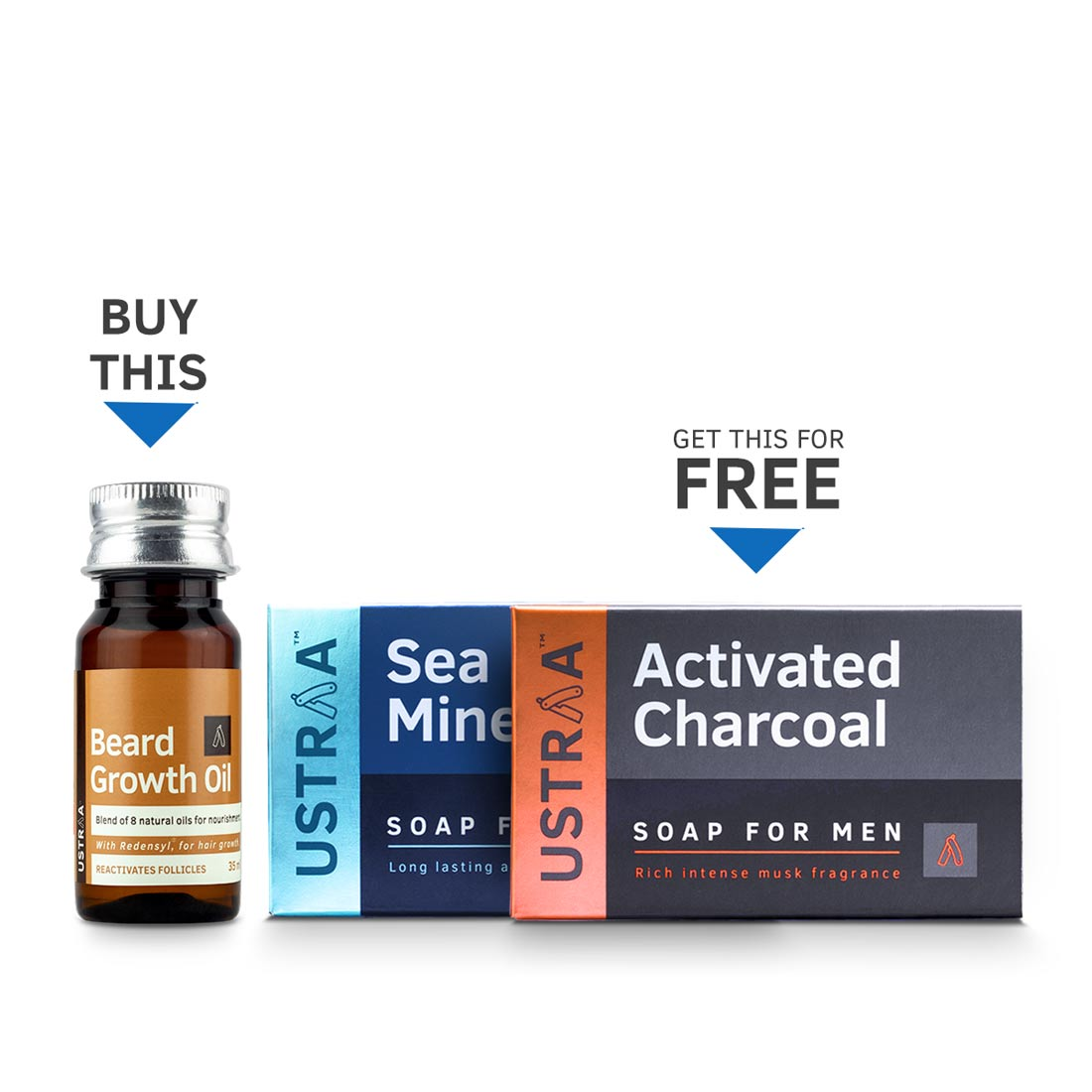Beard Growth Oil (Get 2 New Ustraa Deo Soaps Free)