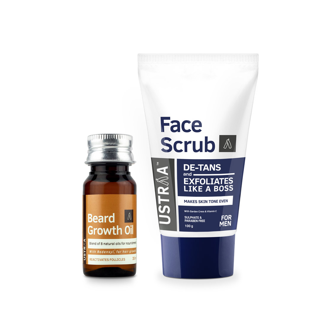 Beard Growth Oil and Face Scrub