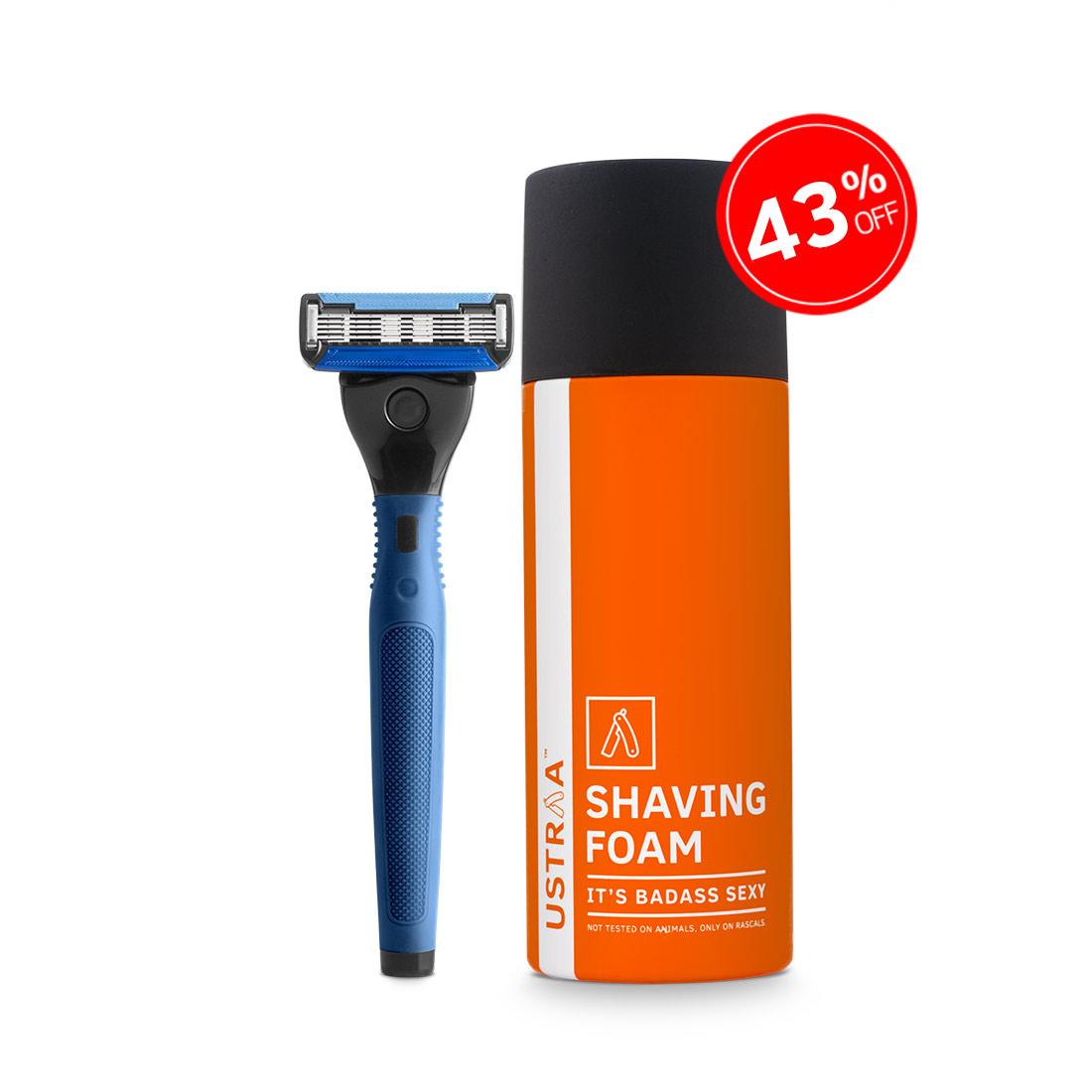 Gear 5 Razor(Blue) and Shaving Foam(Badass Sexy)