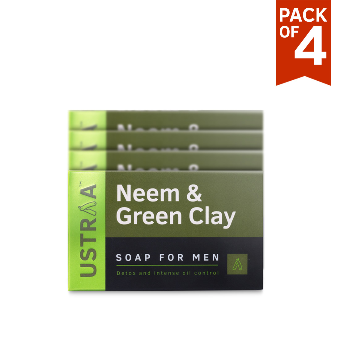 Neem & Green Clay Soap, 100 g (Pack of 4)