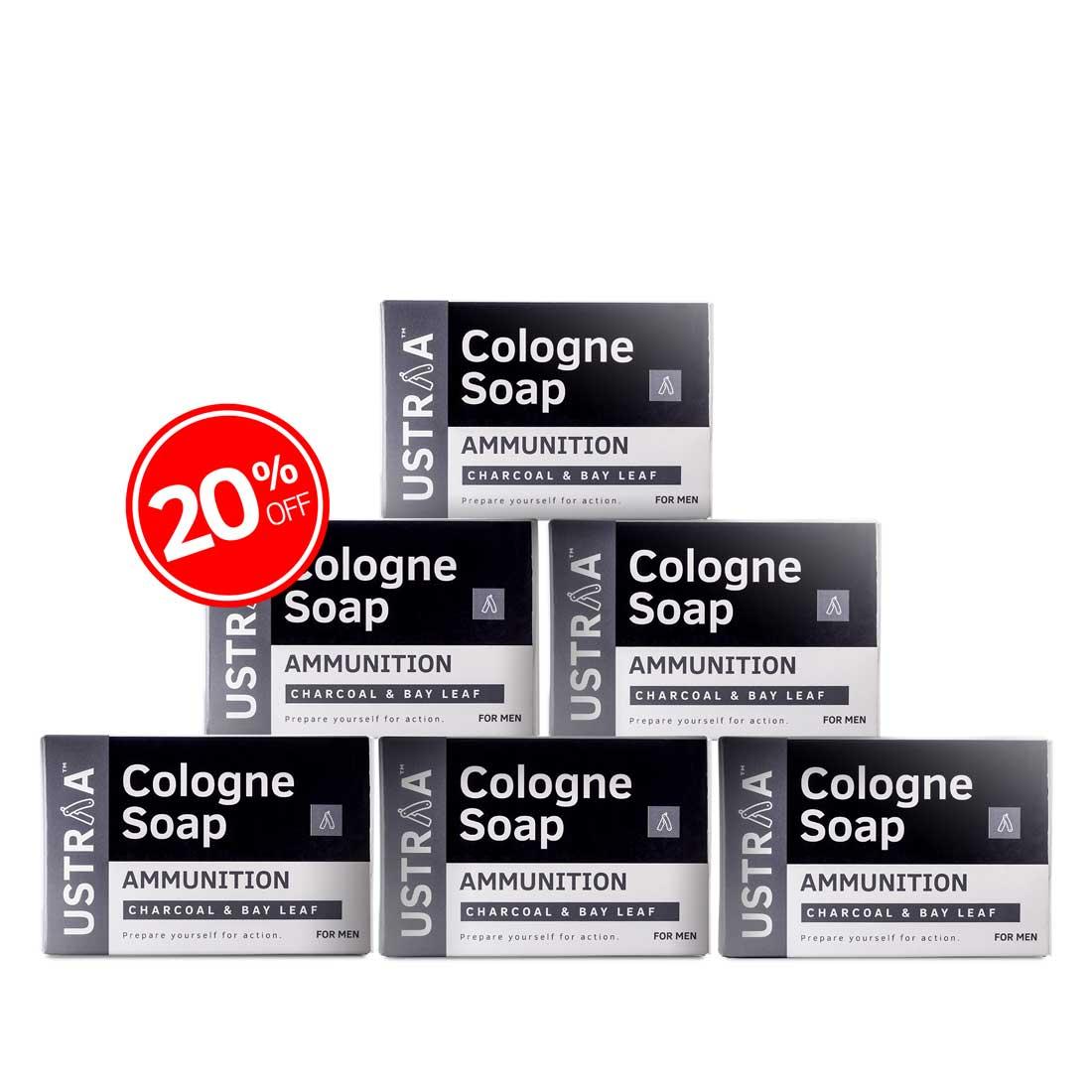 Ammunition Cologne Soap - Pack of 6