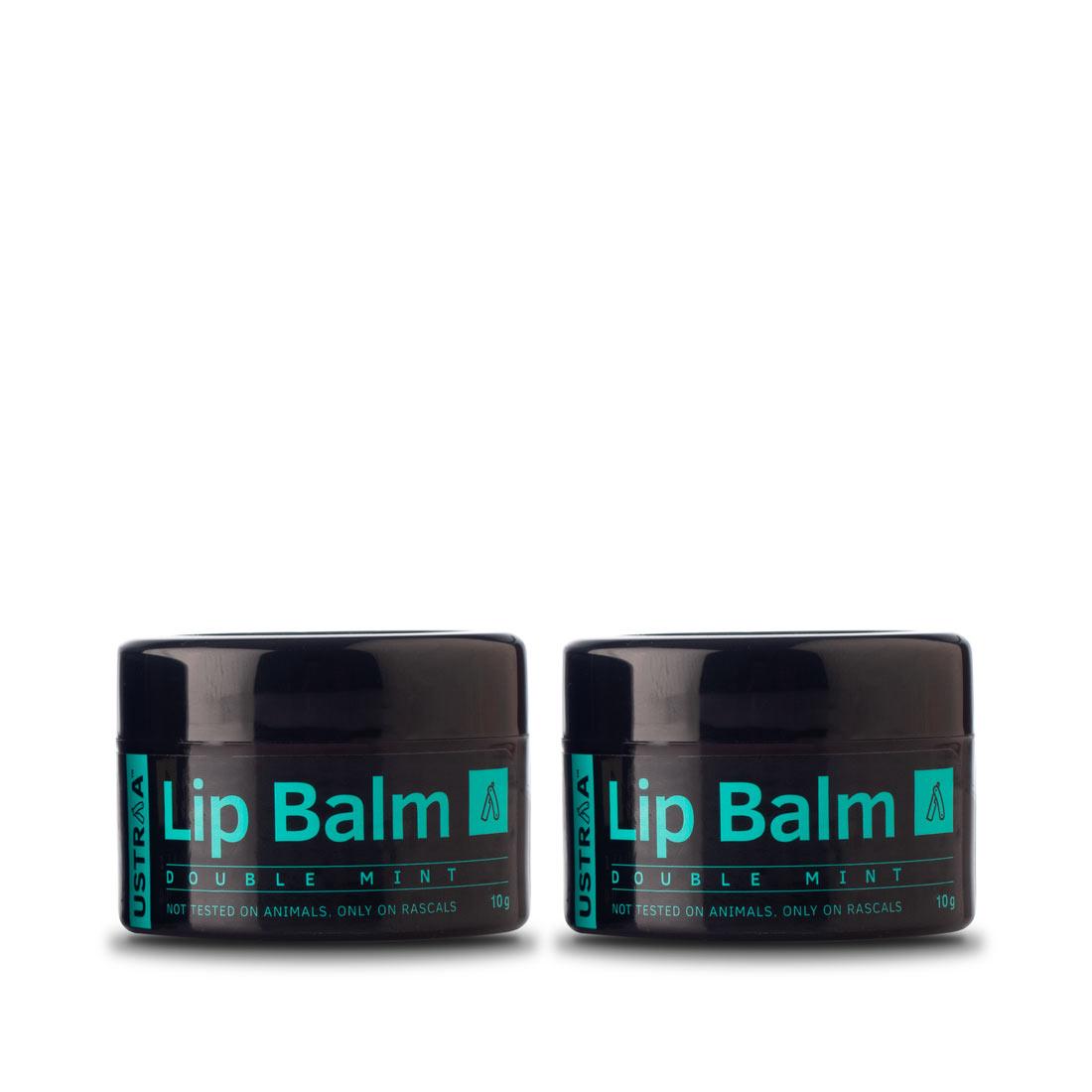 Ustraa Lip Balm (Double Mint) - Set of 2 (10gm)
