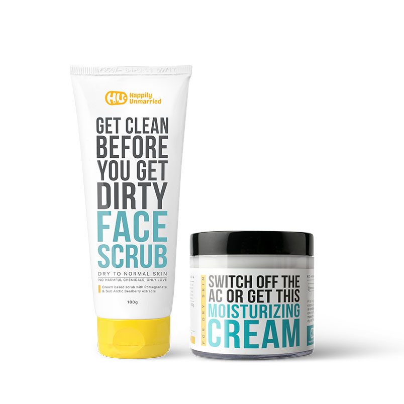 Face Scrub & AC Moisturising Cream (Dry to Normal Skin)