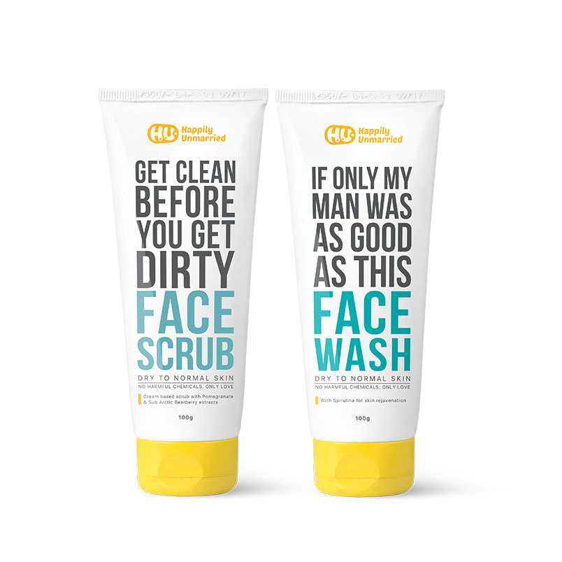 Face Scrub & Face Wash (Dry to Normal Skin)