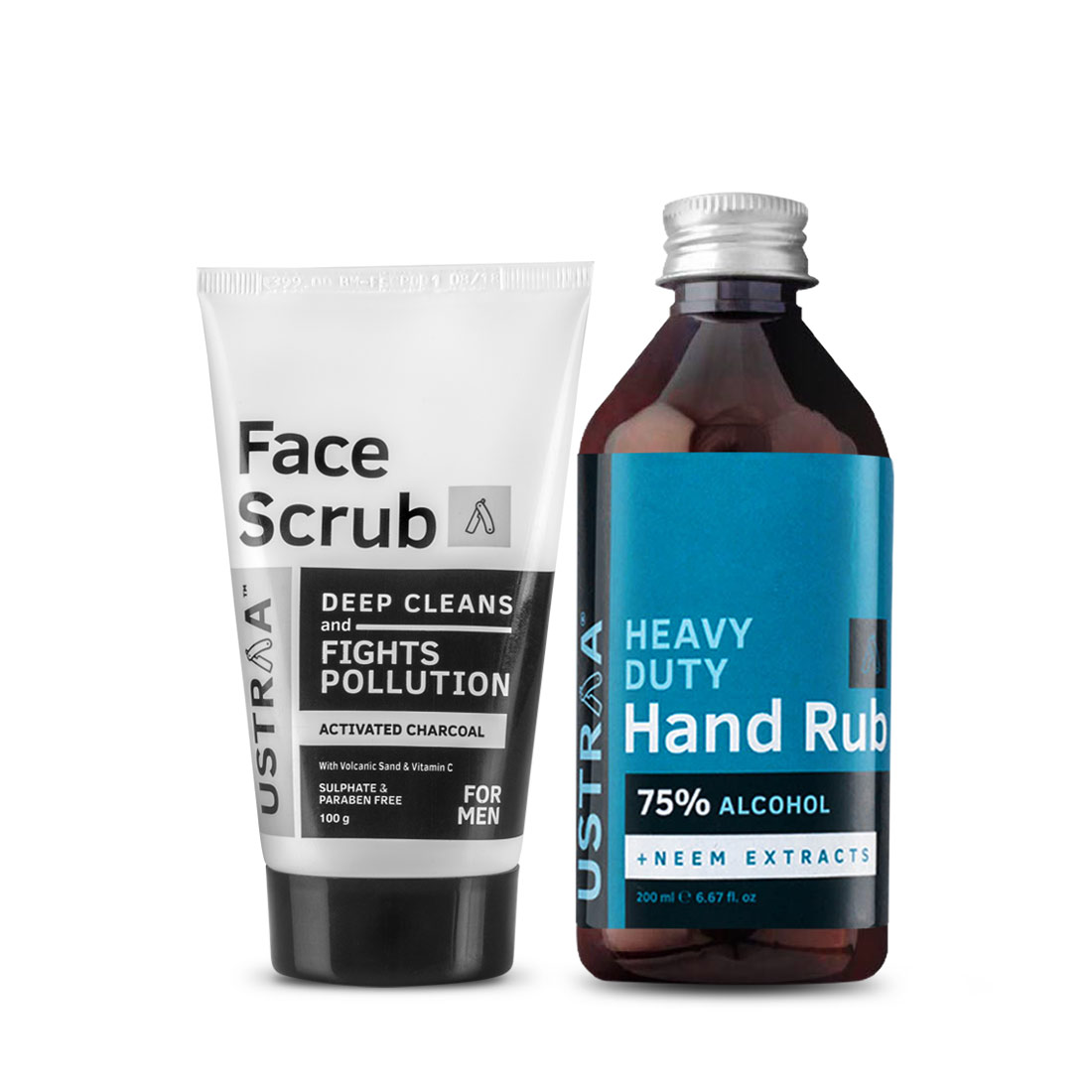 Face Scrub - Activated Charcoal and Hand Rub - 200 ml