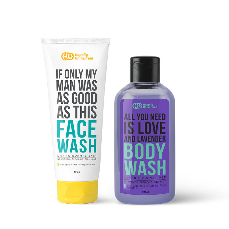 Face Wash - Dry Skin & Body Wash - Lavender & Vetiver