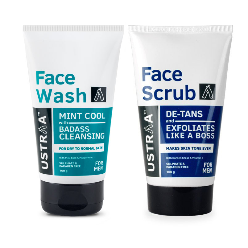 Face Wash - Dry to Normal Skin & Face Scrub