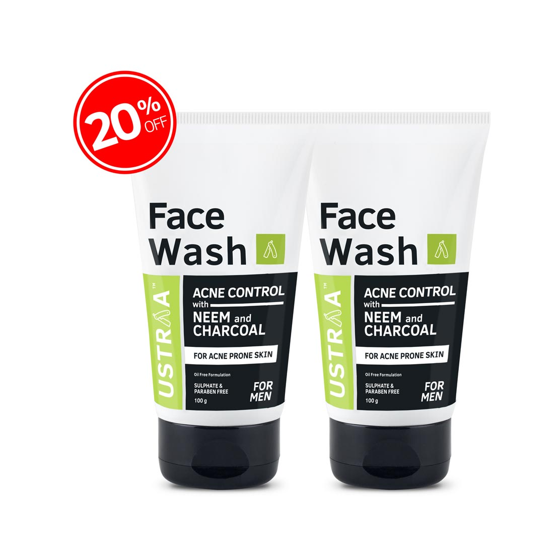 Face Wash Acne Control - With Neem & Charcoal -Set of 2