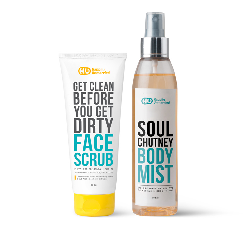 Face Scrub - Dry to Normal Skin & Body Mist - Soul Chutney