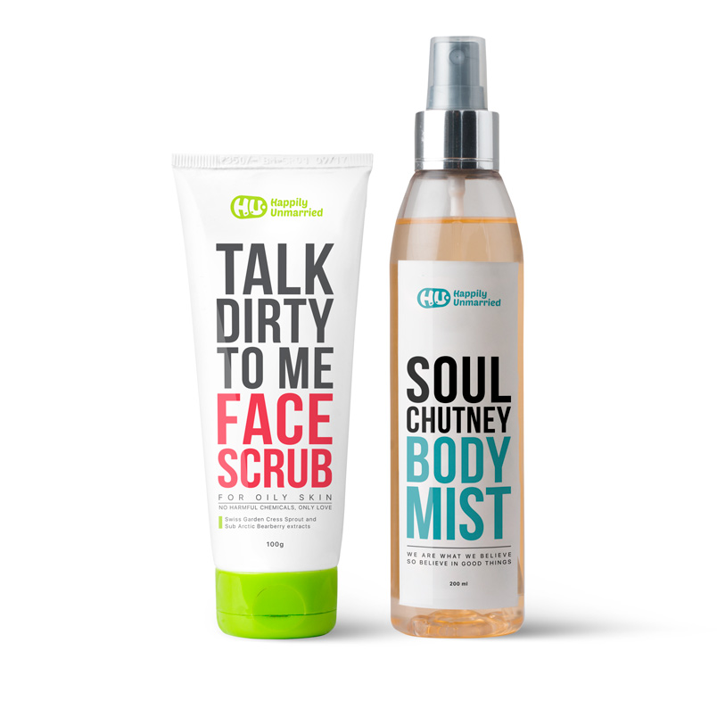 Face Scrub - Oily Skin & Body Mist - Soul Chutney