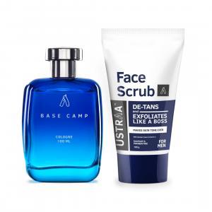 Cologne Base Camp & Face Scrub- De tan