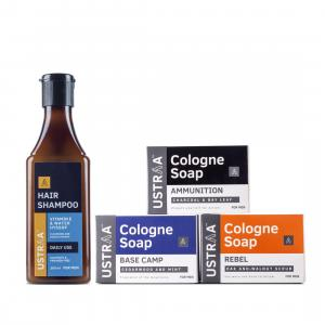 Daily Use Shampoo & Assorted set of Cologne Soaps