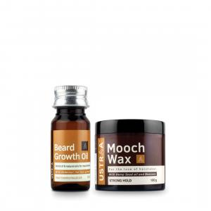 Beard Growth Oil and Mooch Wax - With Hemp Seed Oil