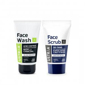 Face Wash Acne Control and Face Scrub De-Tan