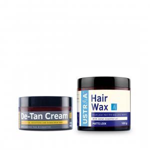 De-Tan Cream for Men and Hair Wax Matte Look