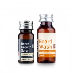 Beard Growth Serum & Beard Wash (Woody)