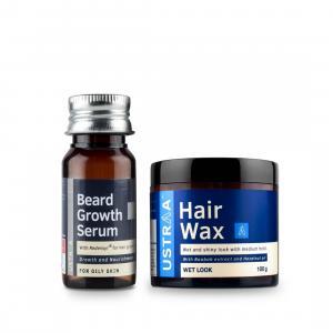 Beard Growth Serum & Hair Wax (Wet Look)