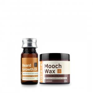 Beard Growth Oil and Beard & Mooch Styling Wax