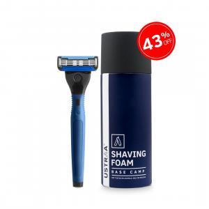 Gear 5 Razor(Blue) and Shaving Foam(Base Camp)
