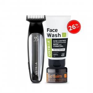 Ustraa Chrome - Lithium Powered Beard Trimmer (Get Face Wash and Lip Balm Free)