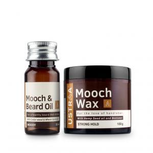 Beard Oil (Woody) & Mooch Wax - Strong Hold