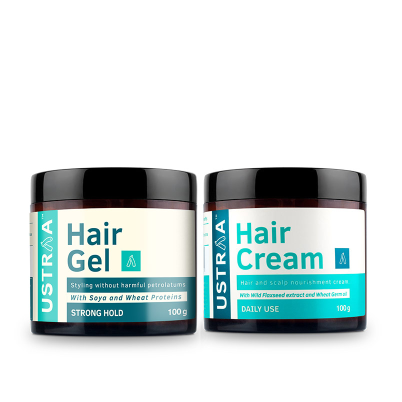 Hair Cream - Daily Use & Hair Gel - Strong Hold