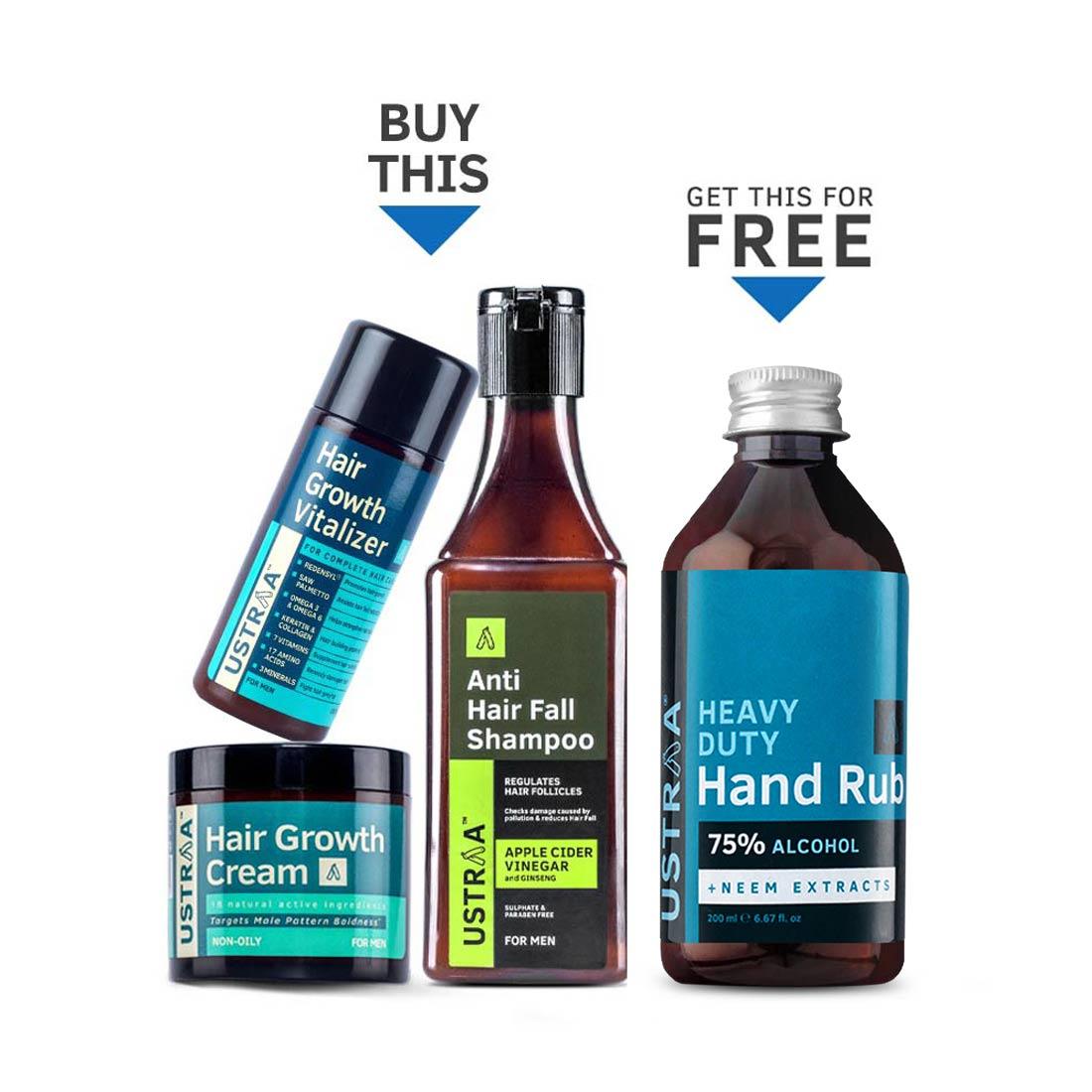 Hair Growth Kit (Get Hand Rub Free)