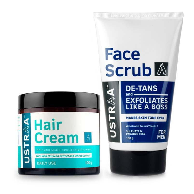 Hair Cream - Daily Use & Face Scrub for de-Tan