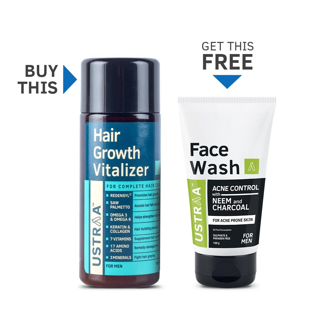 Hair Growth Vitalizer  (Get Neem & Charcoal Facewash Free)