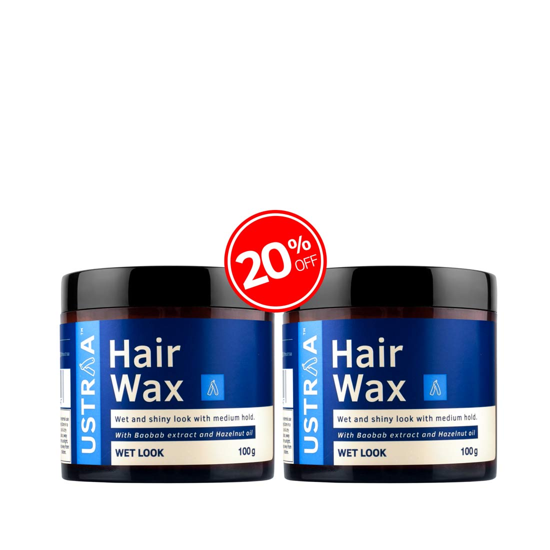 Hair Wax Wet Look - Set of 2