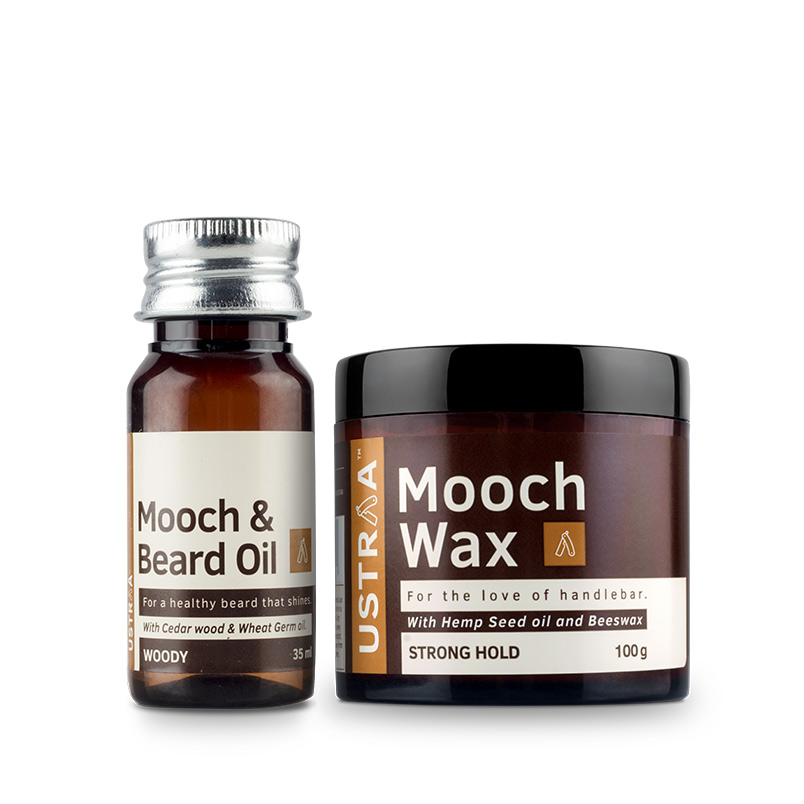 Beard Oil (Woody) & Mooch Wax - Strong Hold